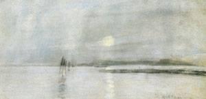 Moonlight Flanders 1885 | John Henry Twachtman | Oil Painting