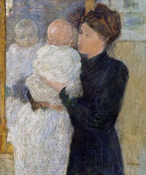Mother and Child 1893 | John Henry Twachtman | Oil Painting