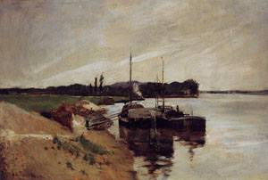 Mouth of the Seine 1884 | John Henry Twachtman | Oil Painting