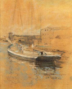 Newport Harbor 1889 | John Henry Twachtman | Oil Painting