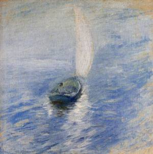 Sailing in the Mist 1890-1900 | John Henry Twachtman | Oil Painting