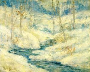 Snow Scene | John Henry Twachtman | Oil Painting