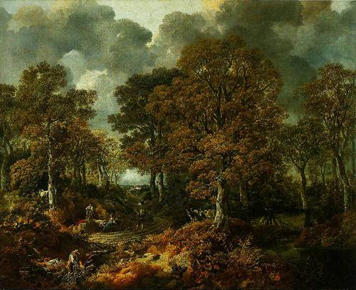 Cornard Wood Near Sudbury Surffolk 1748 | Thomas Gainsborough | Oil Painting