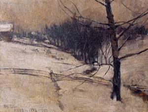 Snow Scene 1882 | John Henry Twachtman | Oil Painting