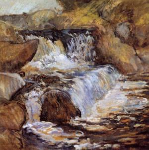 The Cascade 1895-1900 | John Henry Twachtman | Oil Painting