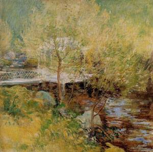 The White Bridge 1895-1900 | John Henry Twachtman | Oil Painting
