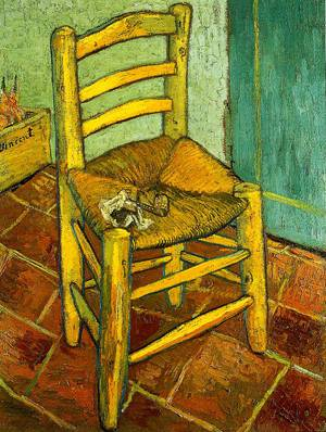 Van Goghs Chair 1888 | Vincent Van Gogh | Oil Painting