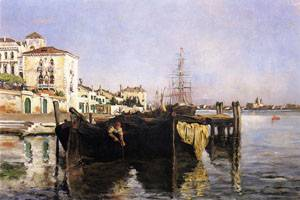View of Venice 1877 | John Henry Twachtman | Oil Painting