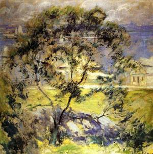 Wild Cherry Tree 1901 | John Henry Twachtman | Oil Painting