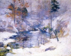 Winter Harmony 1890-1900 | John Henry Twachtman | Oil Painting