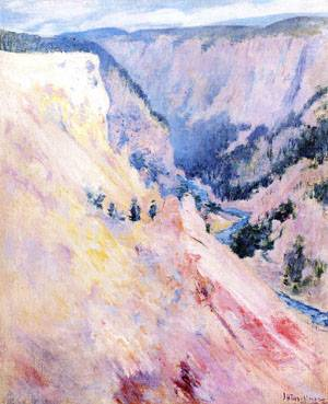 Yellowstone Park 1895 | John Henry Twachtman | Oil Painting