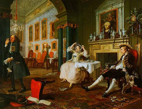Marrigge A-La-Mode II The Tete A Tete 1743 | William Hogarth | Oil Painting