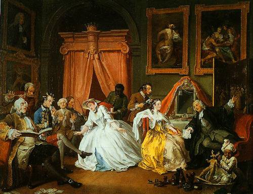 Marrigge A-La-Mode IV The Toilette 1743 | William Hogarth | Oil Painting