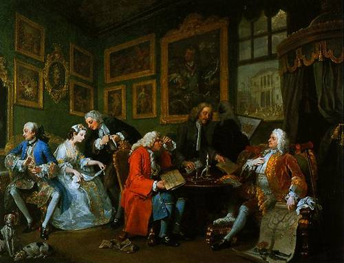 Marrigge A-La-Mode I The Marriage Settlement 1743 | William Hogarth | Oil Painting