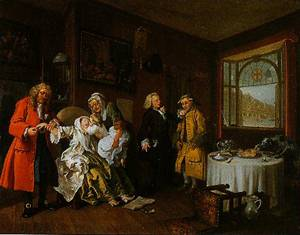 Marrigge A-La-Mode VI The Ladys Death 1743 | William Hogarth | Oil Painting