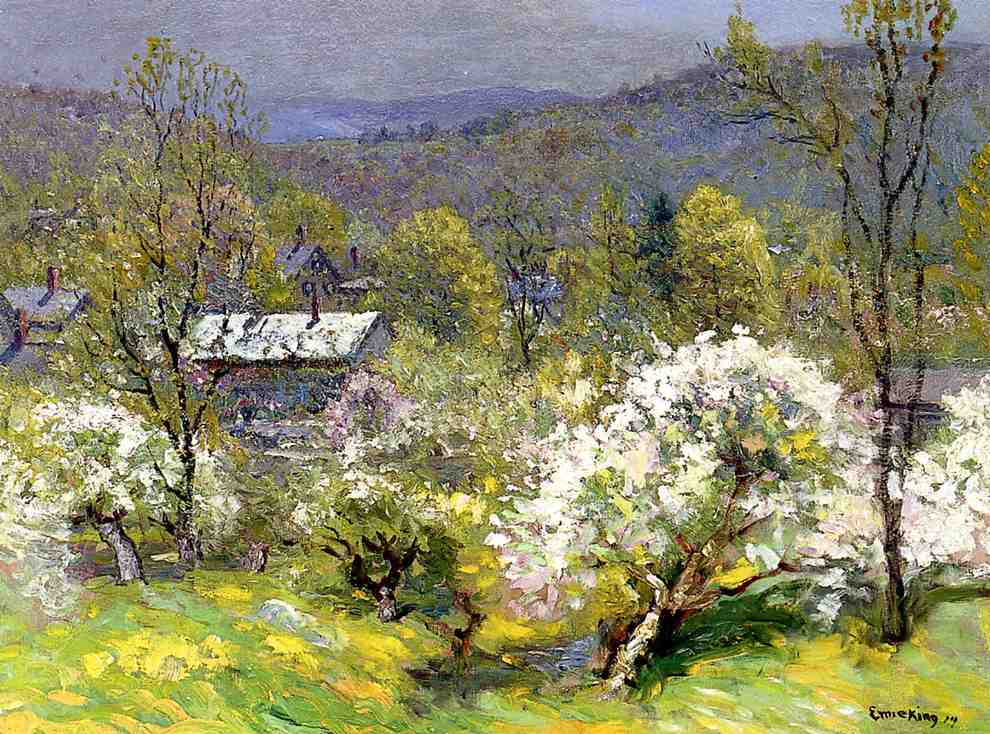 Apple Blossoms 1914 | John Joseph Enneking | Oil Painting
