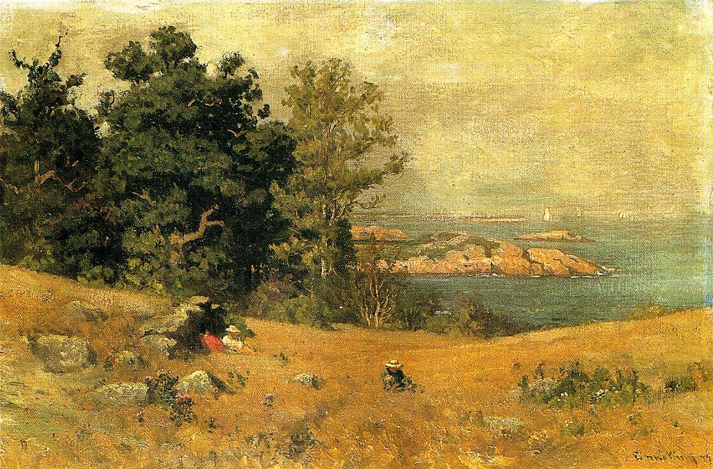 Berrying at the Seashore 1879 | John Joseph Enneking | Oil Painting