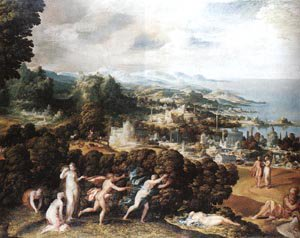 Orpheus And Eurydice | Niccolo Dell Abbate | Oil Painting