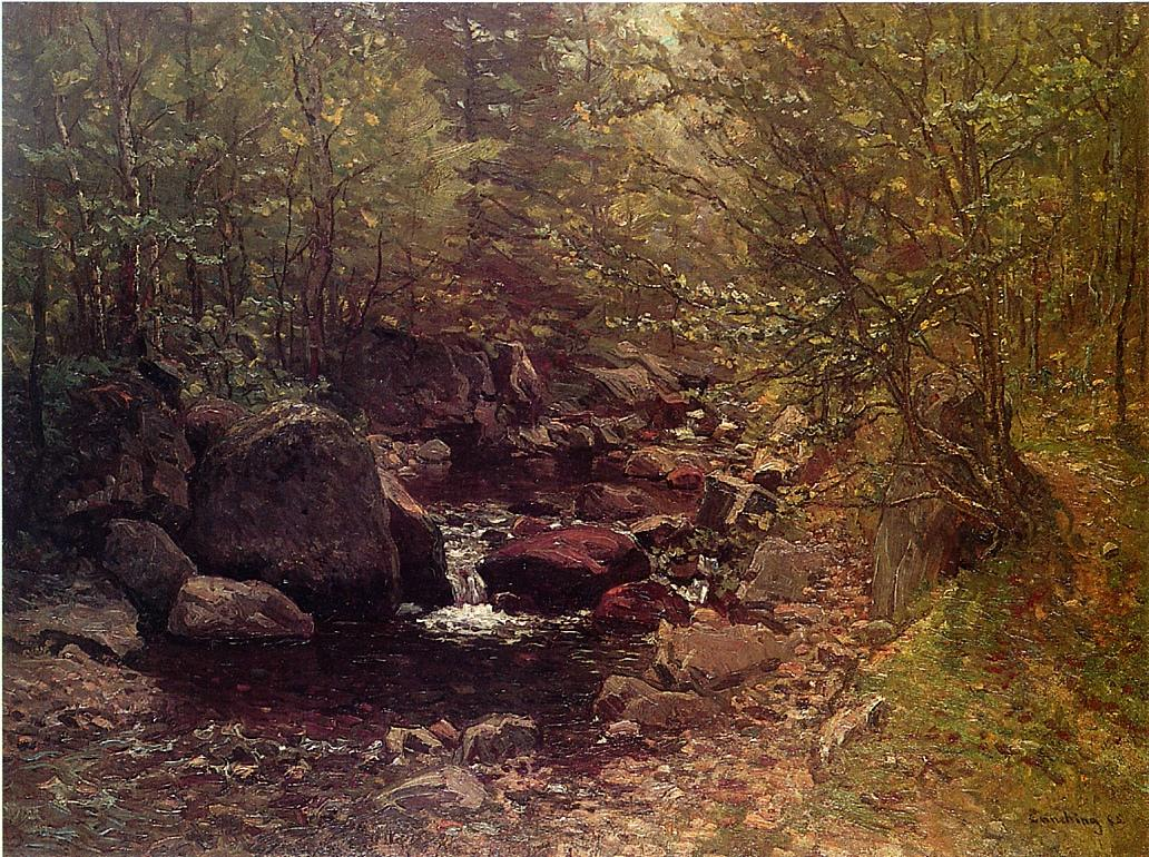 Brook in Sprin 1888 | John Joseph Enneking | Oil Painting