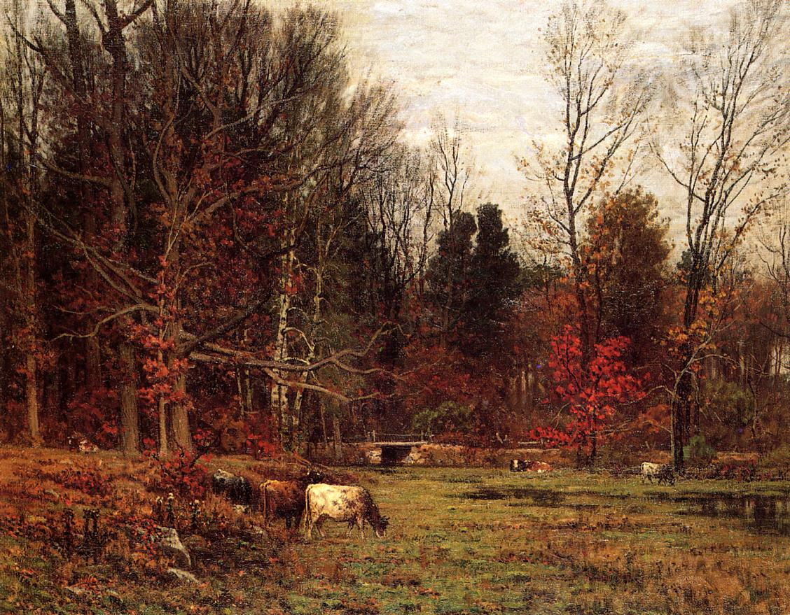 Cattle Grazing (aka November) | John Joseph Enneking | Oil Painting