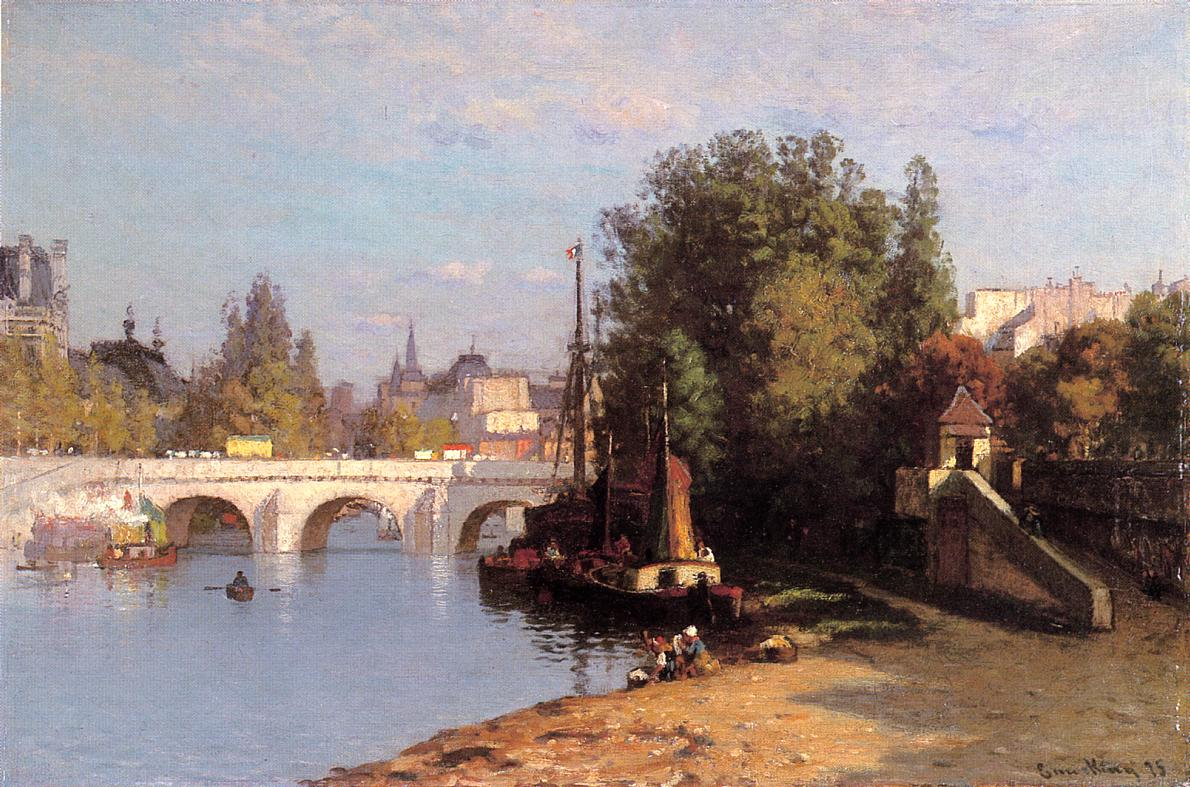 Pont des Arts 1875 | John Joseph Enneking | Oil Painting