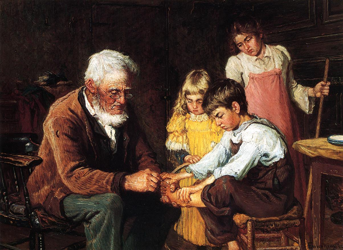 Pulling out the Splinter 1894 | John Joseph Enneking | Oil Painting