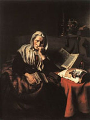 Old Woman Dozing 1656 | Nicolaes Maes | Oil Painting