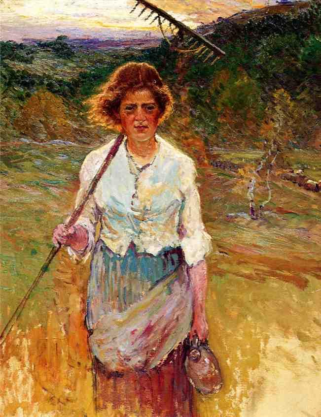 Woman with a Rake | John Joseph Enneking | Oil Painting