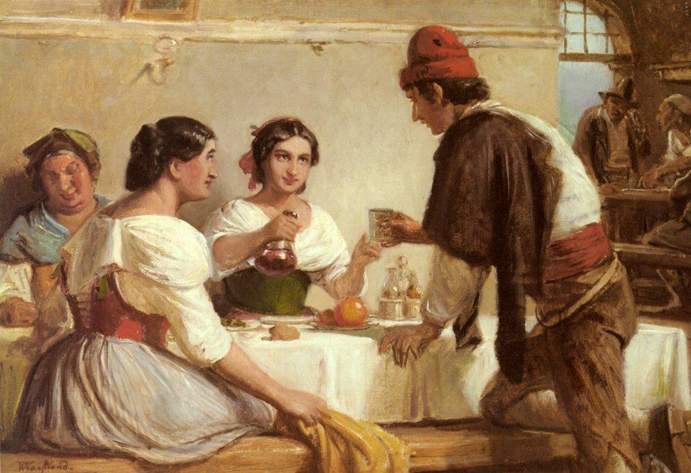 A Welcome Refreshment | Nicolai Wilhelm Marstrand | Oil Painting
