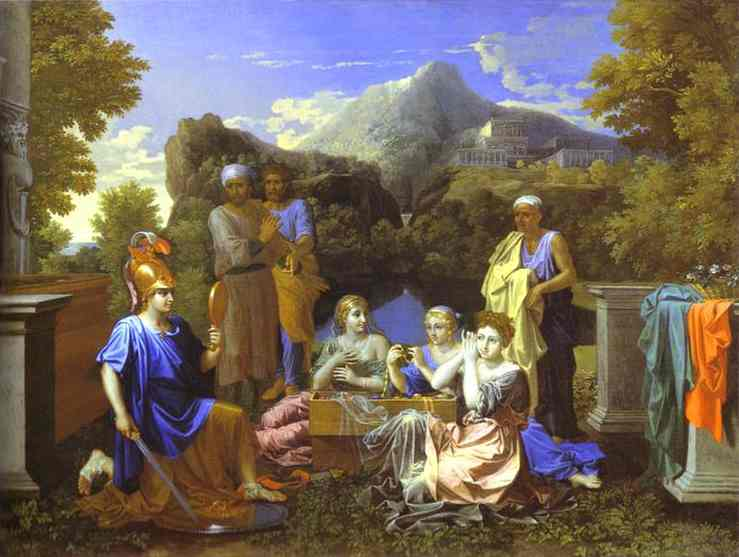Achilles And Daughters Of Lycomede 1656 | Nicolas Poussin | Oil Painting