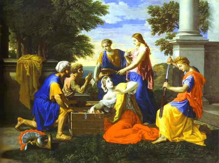 Achilles And Daughters Of Lycomede 2 1656 | Nicolas Poussin | Oil Painting