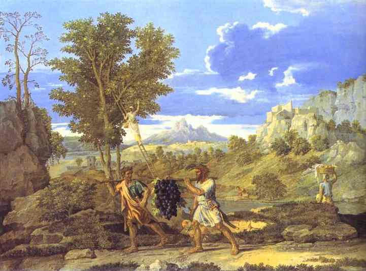 Autumn The Grapes From The Promised Land 1660-1664 | Nicolas Poussin | Oil Painting