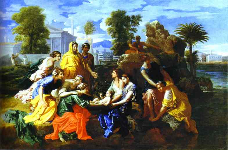 Baby Moses Saved From River 1651 | Nicolas Poussin | Oil Painting