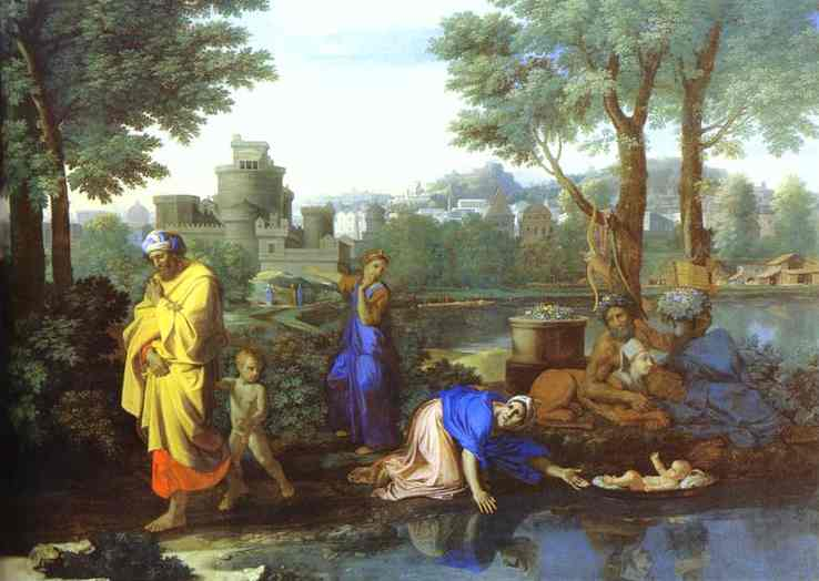 Baby Moses Saved From The River 1654 | Nicolas Poussin | Oil Painting