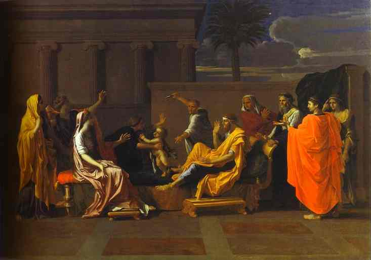 Baby Moses Trampling On The Pharaohs Crown 1645 | Nicolas Poussin | Oil Painting