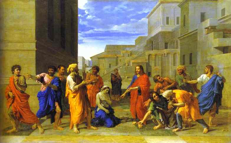 Christ And The Woman Taken In Adultery 1653 | Nicolas Poussin | Oil Painting