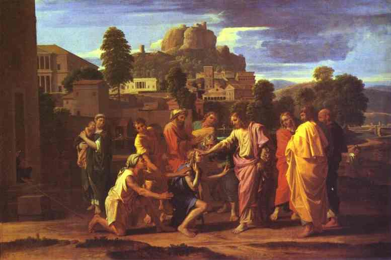 Christ Healing The Blind | Nicolas Poussin | Oil Painting