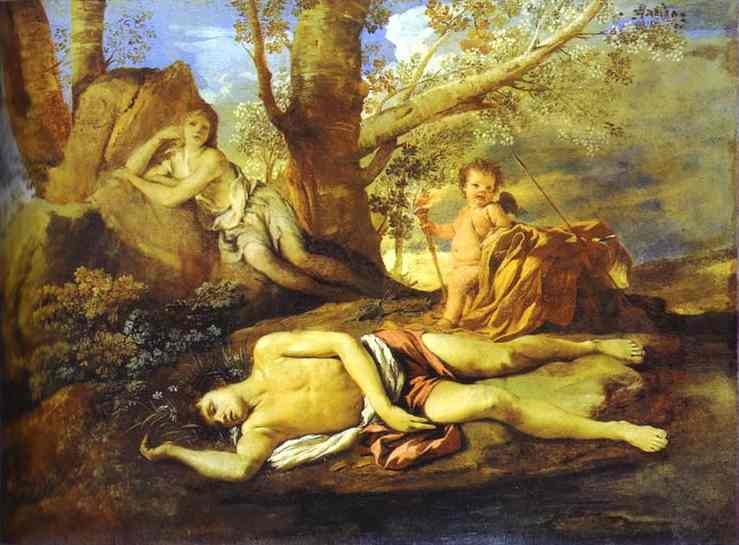 Echo And Narcissus 1627-28 | Nicolas Poussin | Oil Painting