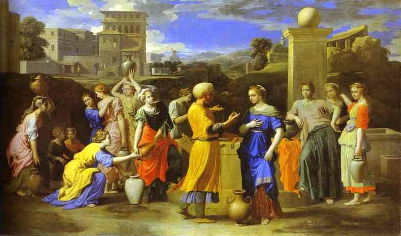 Eliezer And Rebecca 1640s | Nicolas Poussin | Oil Painting