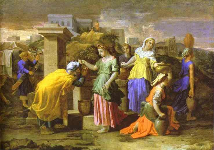 Eliezer Meets Rebecca 1659-1660 | Nicolas Poussin | Oil Painting
