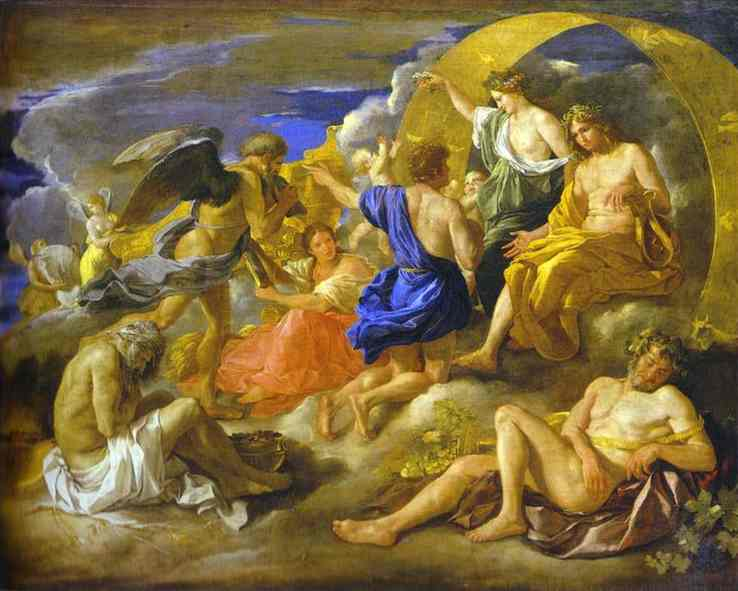 Helios And Phaeton With Saturn And The Four Seasons 1629-30 | Nicolas Poussin | Oil Painting