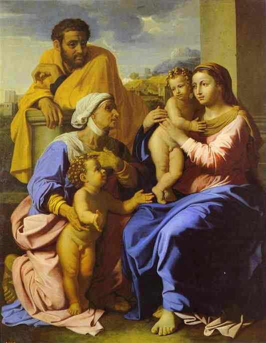 Holy Family With John The Baptist And St Elizabeth 1644 66 | Nicolas Poussin | Oil Painting