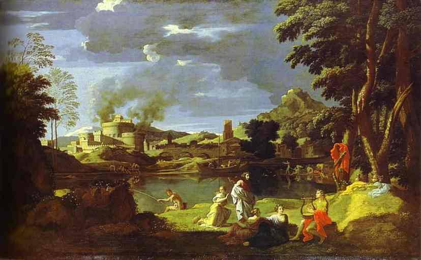 Landscape With Orpheusand Eurydice 1648 | Nicolas Poussin | Oil Painting