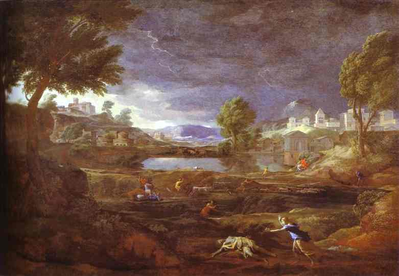 Landscape With Pyram And Thisbe | Nicolas Poussin | Oil Painting