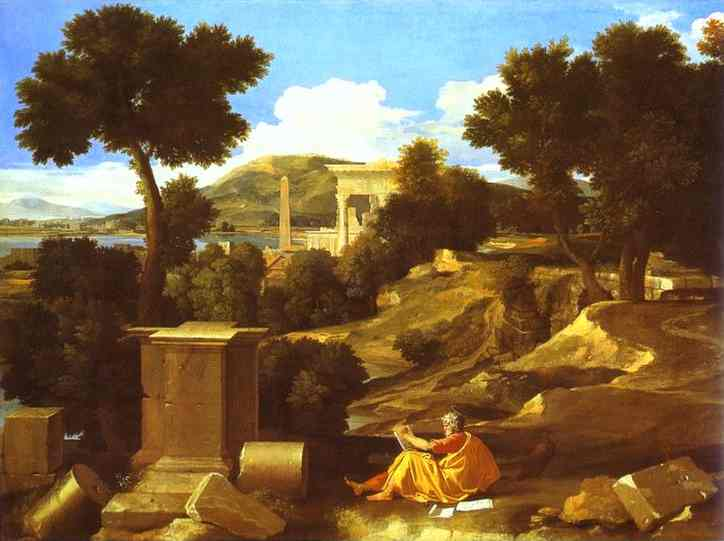 Landscape With St James In Patmos 1640 | Nicolas Poussin | Oil Painting