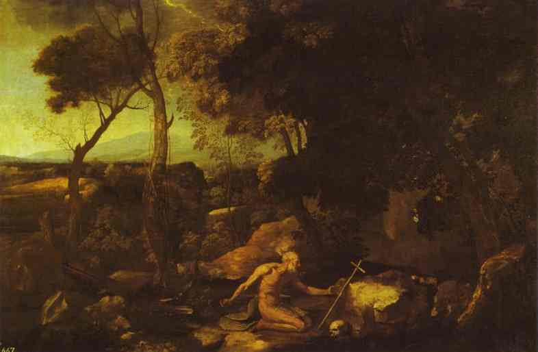 Landscape With St Jerom | Nicolas Poussin | Oil Painting