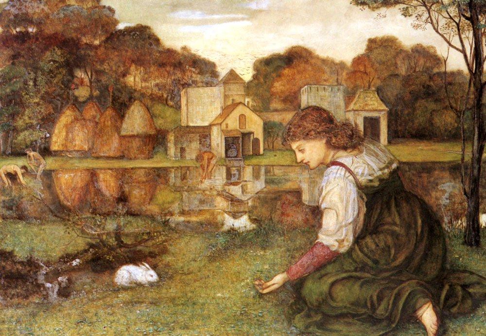 The White Rabbit | John Roddam Spencer Stanhope | Oil Painting