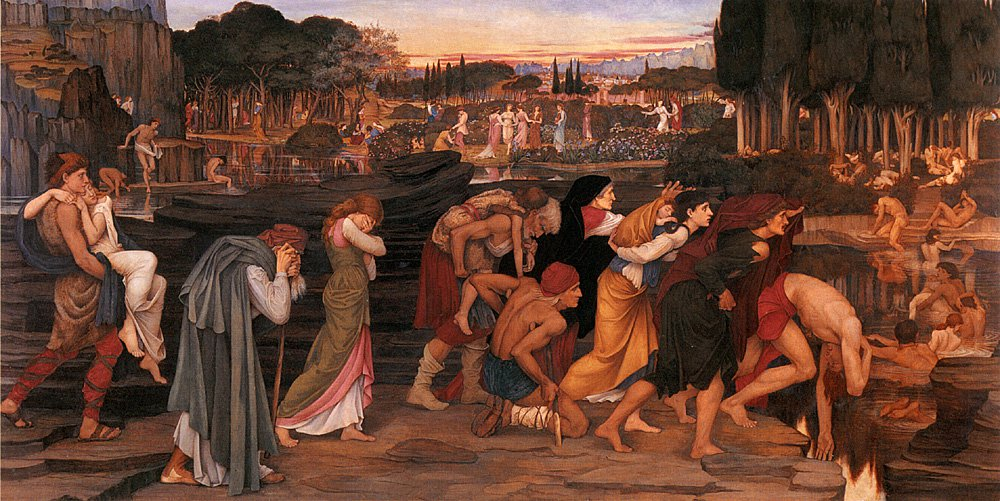 The Waters of Lethe by the Plains of Elysium | John Roddam Spencer Stanhope | Oil Painting