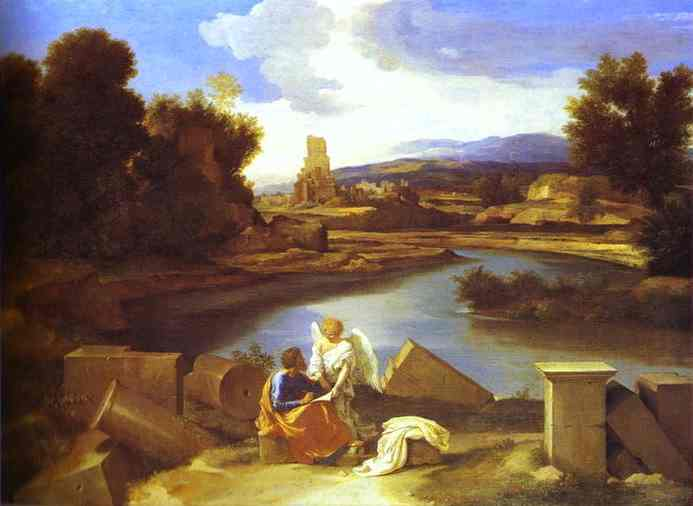 Landscape With St Matthew 1640 | Nicolas Poussin | Oil Painting