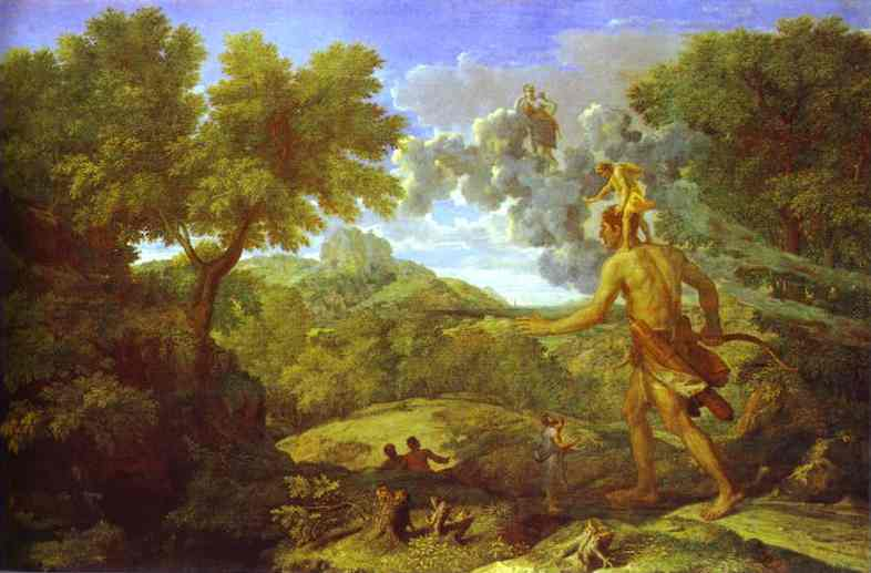 Landscape With The Blind Orion Looking For Sun 1658   Nicolas Poussin   Oil Painting